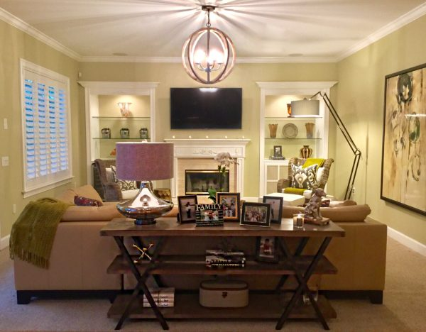 Golden Glamour After family room
