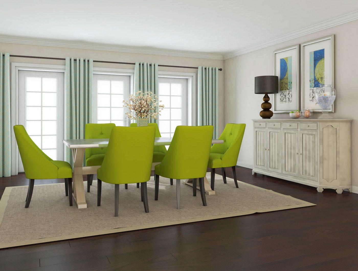 Contemporary White Dining Room Design