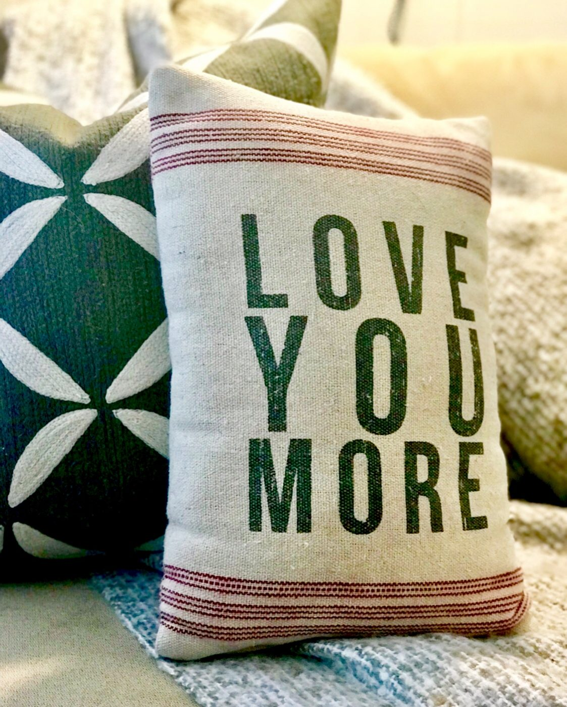 It's all in the details! Love You More Pillow